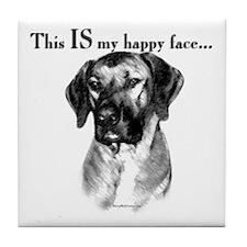 Ridgeback Happy Face Tile Coaster