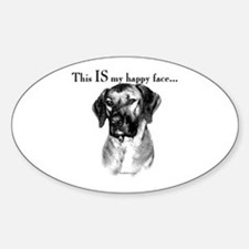 Ridgeback Happy Face Oval Decal