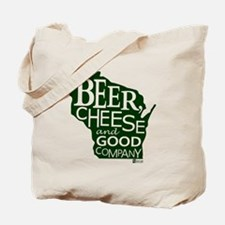 Beer, Chees & Good Company in Green Tote Bag