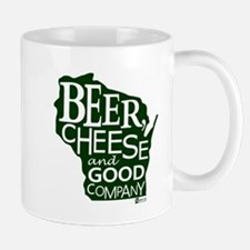 Beer, Chees & Good Company in Green Mug