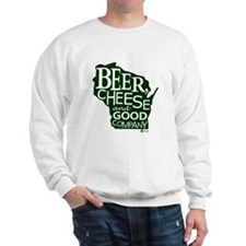 Beer, Chees & Good Company in Green Jumper