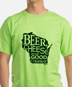 Beer, Chees & Good Company in T-Shirt