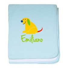 Emiliano Loves Puppies baby blanket