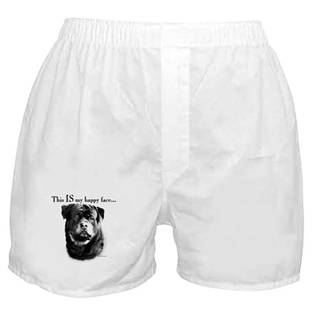Rottweiler Happy Face Boxer Shorts