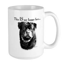 Rottweiler Happy Face Mug