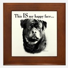 Rottweiler Happy Face Framed Tile