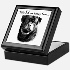 Rottweiler Happy Face Keepsake Box