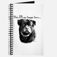 Rottweiler Happy Face Journal