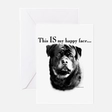 Rottweiler Happy Face Greeting Cards (Pk of 10