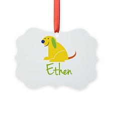 Ethen Loves Puppies Ornament