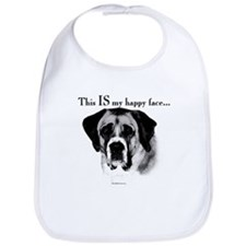 Saint Bernard Happy Face Bib