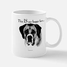 Saint Bernard Happy Face Mug