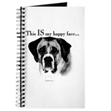 Saint Bernard Happy Face Journal