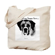Saint Bernard Happy Face Tote Bag