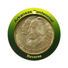 Arkansas Centennial Coin Ornament (Round)