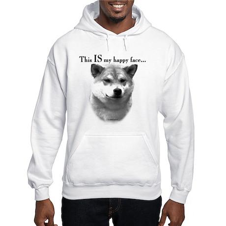 Shiba Inu Happy Face Hooded Sweatshirt