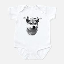 Shiba Inu Happy Face Infant Bodysuit