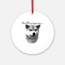 Shiba Inu Happy Face Ornament (Round)