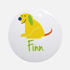 Finn Loves Puppies Ornament (Round)