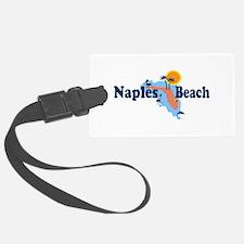 Naples Beach - Map Design. Luggage Tag