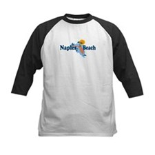 Naples Beach - Map Design. Tee