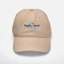 Naples Beach - Map Design. Baseball Baseball Cap