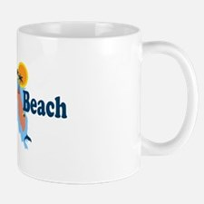 Naples Beach - Map Design. Mug