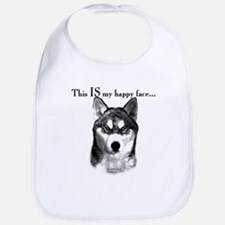 Husky Happy Face Bib