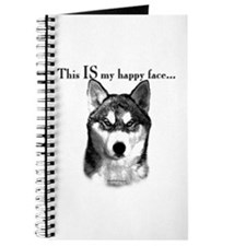Husky Happy Face Journal