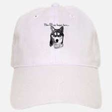 Husky Happy Face Baseball Baseball Cap