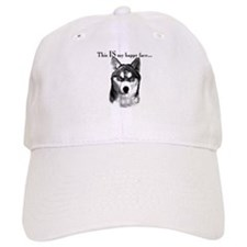 Husky Happy Face Baseball Cap