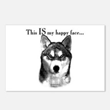 Husky Happy Face Postcards (Package of 8)