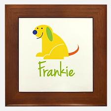 Frankie Loves Puppies Framed Tile