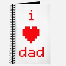 i heart dad (red) Journal