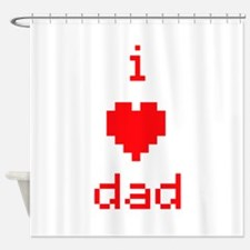 i heart dad (red) Shower Curtain