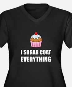 Sugar Coat Everything Cupcake Plus Size T-Shirt