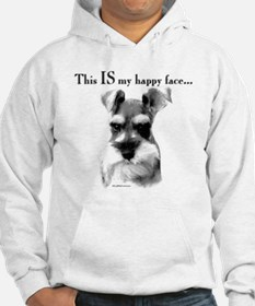 Std. Schnauzer Happy Face Hoodie Sweatshirt
