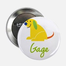 """Gage Loves Puppies 2.25"""" Button"""