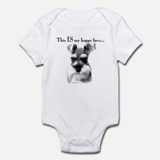 Std. Schnauzer Happy Face Infant Bodysuit