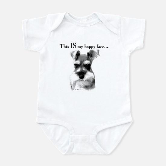 Std. Schnauzer Happy Face Infant Bodysuit