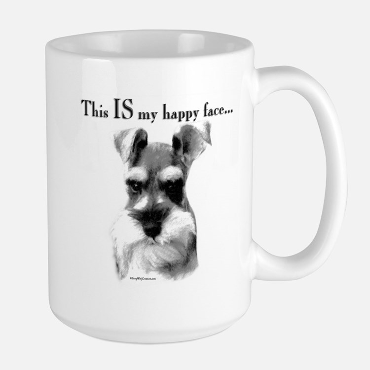 Std. Schnauzer Happy Face Mug