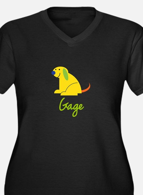 Gage Loves Puppies Plus Size T-Shirt