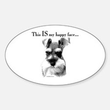 Std. Schnauzer Happy Face Oval Decal