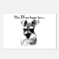 Std. Schnauzer Happy Face Postcards (Package of 8)