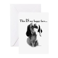 Vizsla Happy Face Greeting Cards (Pk of 10)