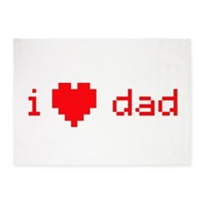 i heart dad (red) 5'x7'Area Rug