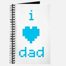 i heart dad (blue) Journal