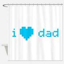 i heart dad (blue) Shower Curtain
