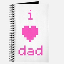 i heart dad (pink) Journal