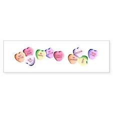 Candy Hearts Bumper Bumper Sticker